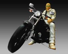 河内鉄生&BLACK LOW RIDER 通常版(原作カラー版) 「クローズ×WORST」 鴉-KARASU- Vol.1 1/12 PVC製塗装済み完成品 &組み立て式プラモデル