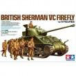 1/35 スケール限定商品 イギリス戦車 シャーマン VC ファイアフライ (人形6体付き)